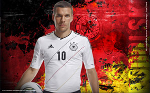 Podolski Soccer Desktop Wallpaper