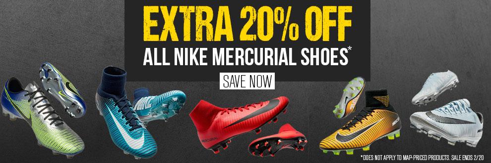 Nike Mercurial Styles 20% Off
