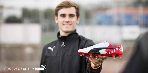Puma Hands Griezmann Custom evoSPEED for Madrid Derby