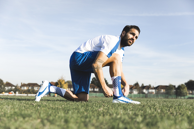 Cesc Fabregas trying on the Puma evoTOUCH