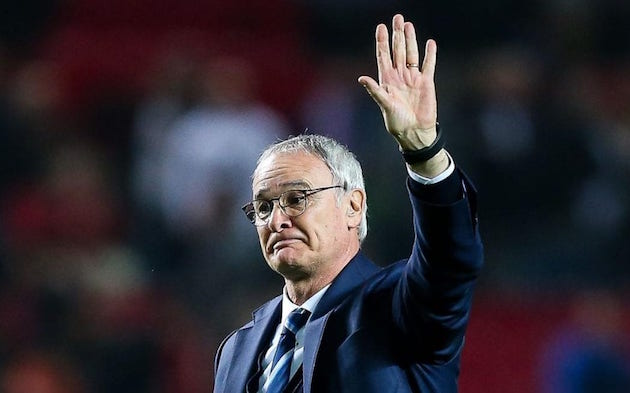 Standing with Claudio Ranieri
