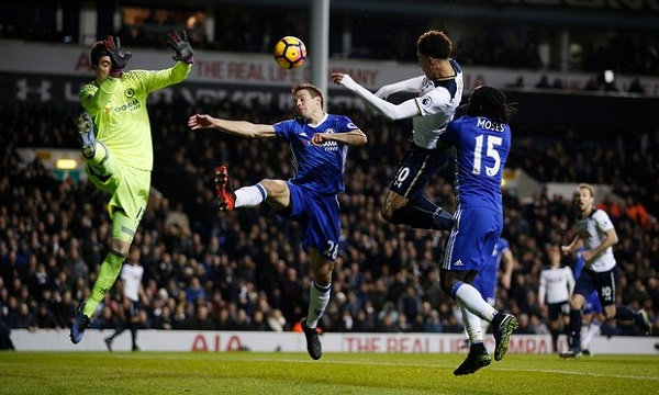 Dele Alli scores against Chelsea