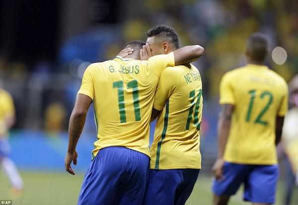 Gabriel Jesus and Neymar for Brazil