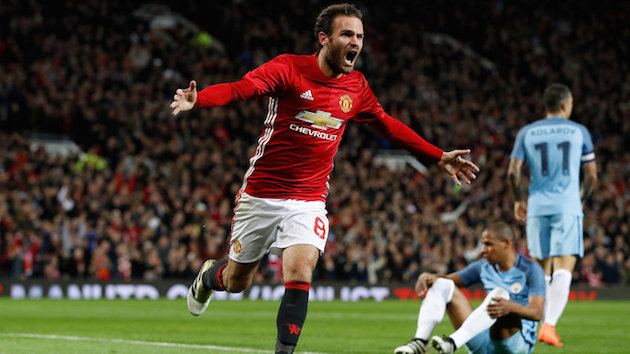 Mata Turns Manchester Red (For Now) in EFL Cup
