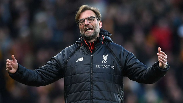 A frustrated Jurgen Klopp