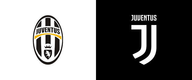 Old and New Juventus logo