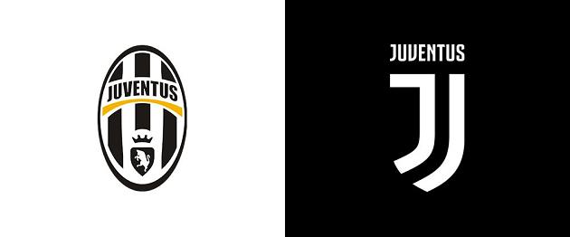Old and New Juventus logo