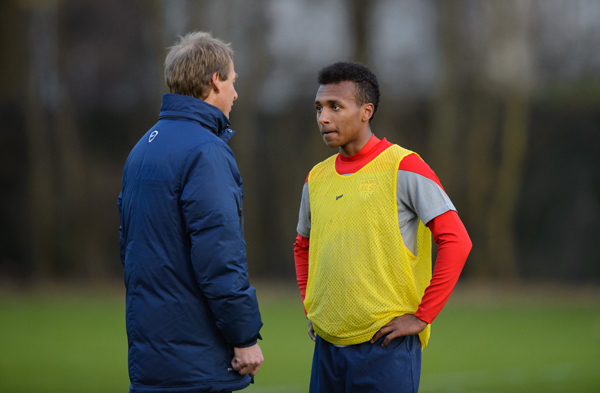 Klinsmann with Julian Green