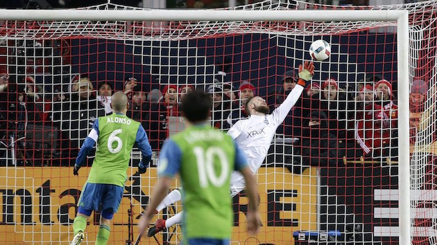 Seattle Sounders keeper Stefan Frei in MLS Cup