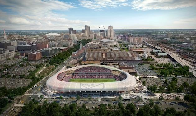 St. Louis MLS stadium design