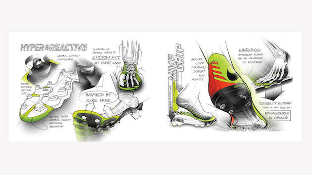 Nike Hypervenom outsole sketch