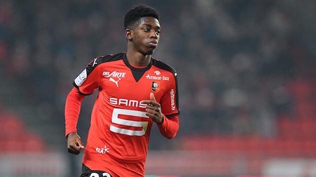 Rennes midfielder Ousmane Dembele