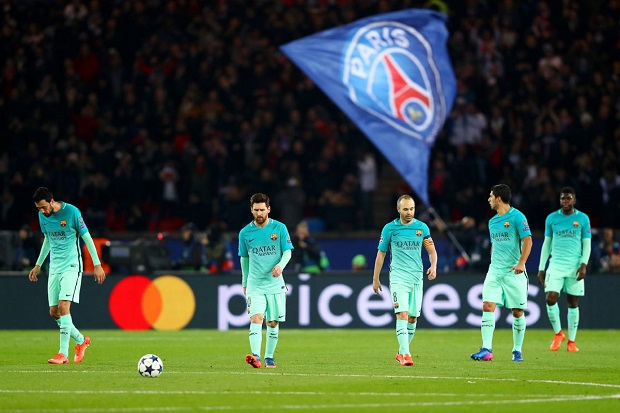 PSG defeats Barcelona 4-0 in Champions League