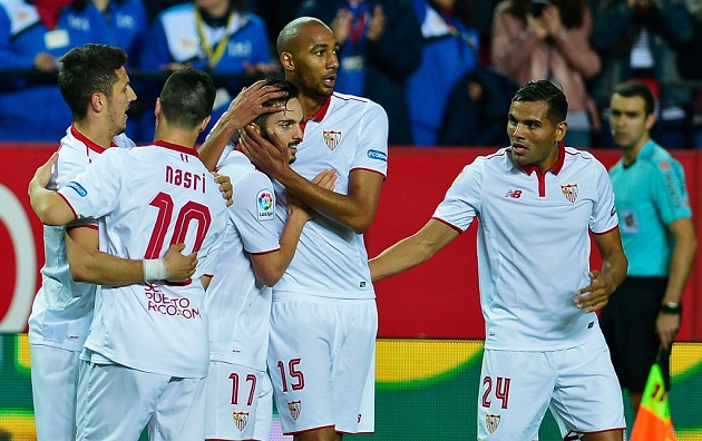 Sevilla take first leg of Champions League clash with Leicester City