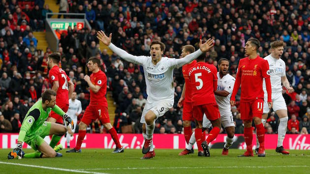 EPL Wrap-up: Swansea Shock Liverpool; City Unfortunate to Draw