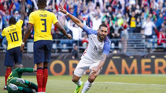 Dempsey Leads U.S. Past Ecuador to Copa Semis