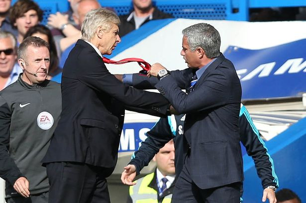 Wenger fights with Mourinho on sideline