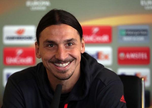 Zlatan Ibrahimovic at press conference
