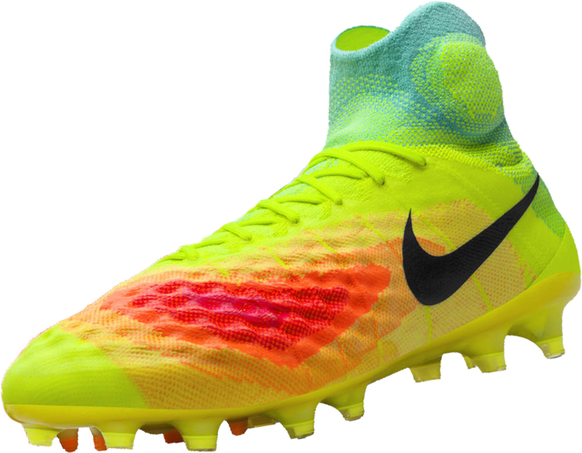 yellow orange womens nike magista cleats shoes