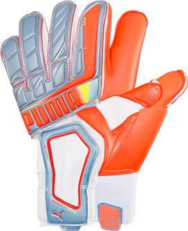 Puma evoSPEED 1.2 Goalkeeper Glove  Blue with Peach