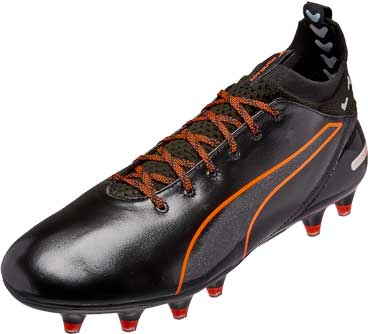 puma evotouch black and orange