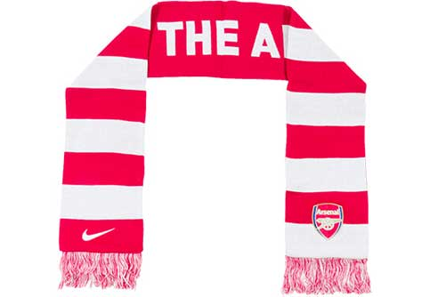Nike Arsenal Supporter Scarf  Artillery Red with White