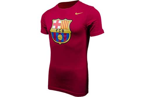 Nike Barcelona Core Crest Tee  Storm Red