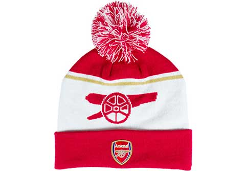 Nike Arsenal Beanie  White with Artillery Red
