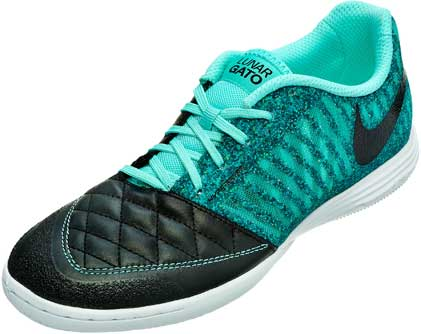 official photos 7aaac 00b02 ... Size 7 580456-180 New Msrp  100  Nike Lunargato II Indoor Soccer Shoes  - Black and Turquoise ...