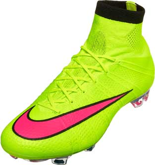 Nike Mercurial Superfly FG Soccer Cleats - Volt and Hyper Pink