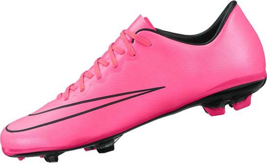 kids nike mercurial vapor x youth pink nike fg soccer cleats