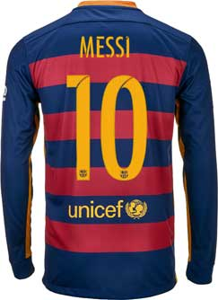 Lionel Messi Barcelona Jersey - 2015/16 Messi Nike FC ...
