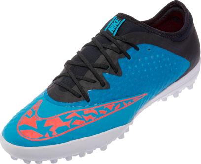 nike elastico finale iii tf blue nike turf soccer shoes