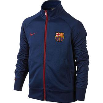 kids nike barcelona trainer jacket blue barcelona soccer. Black Bedroom Furniture Sets. Home Design Ideas