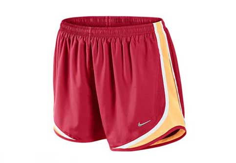 Nike Womens Tempo Short  Hyper Red with White