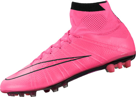f03cf2cd ... Nike Mercurial Superfly IV AG-R Soccer Cleats - Pink and Black ...