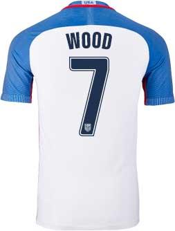 Nike Bobby Wood Usa Home Match Jersey 2016 17