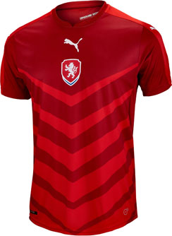 Puma Czech Republic Home Jersey - 2016 Czech Soccer Jerseys b9e167506