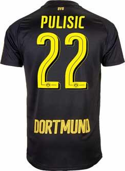 Puma Christian Pulisic Borussia Dortmund Away Jersey 2017-18