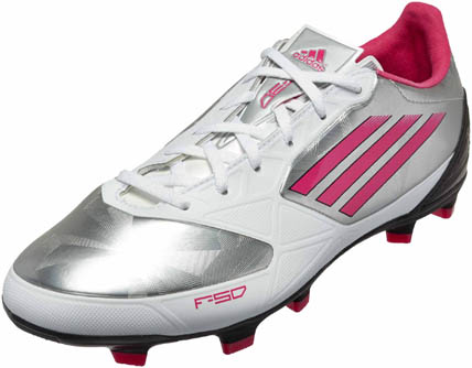 adidas Womens F30 TRX FG  Metallic Silver with Bright Pink and Black