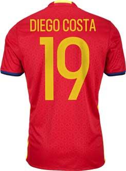 Adidas Diego Costa Spain Home Jersey