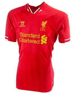 Warrior Liverpool Home Jersey 2013-2014