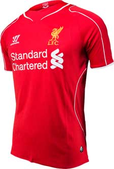 Warrior Youth Liverpool Home Jersey 2014-15