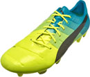 Puma evoPOWER 1.3 FG Soccer Cleats - Safety Yellow & Black