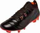 Puma One Lux FG Soccer Cleats - Black & Shocking Orange