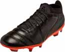 Puma One Lux 2 FG Soccer Cleats - Black & Shocking Orange