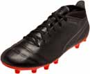 Puma One 17.4 FG Soccer Cleats - Black & Shocking Orange