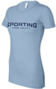 Sporting Kaw Valley Ladies Logo Tee - Light Blue