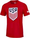 Nike USA Evergreen Crest Tee - University Red