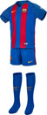 Nike Barcelona Lil Kids Home Kit 2016-17